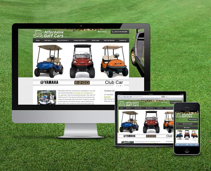 Affordable Golf Cars Web Design