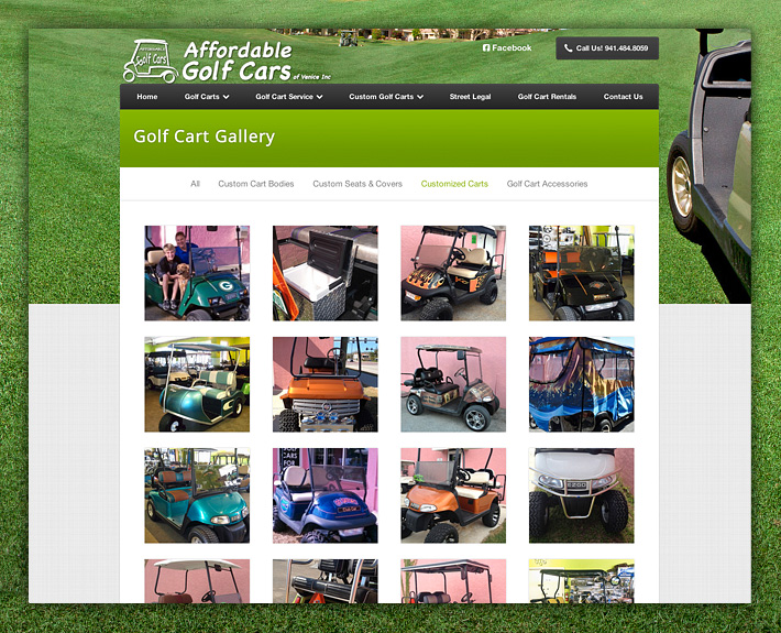 Affordable Golf Cars Web Design