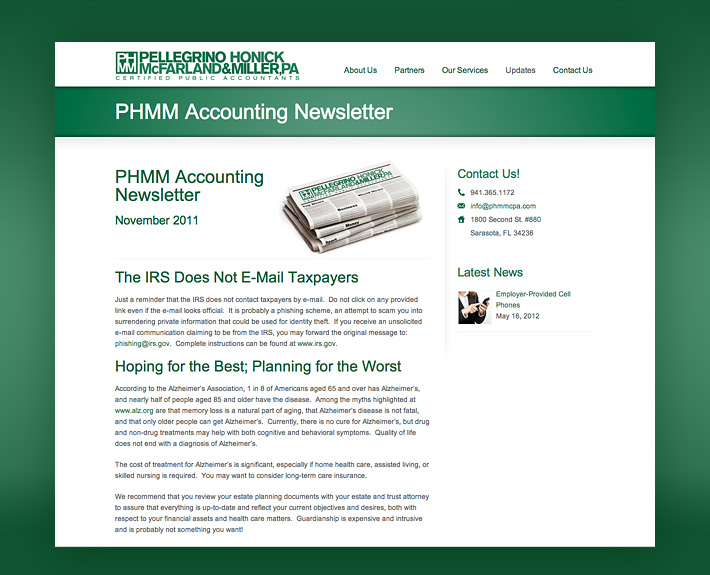 PHMM Website Design
