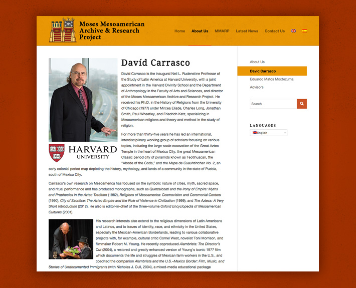 Davíd Carrasco Ph.D. Bio Page