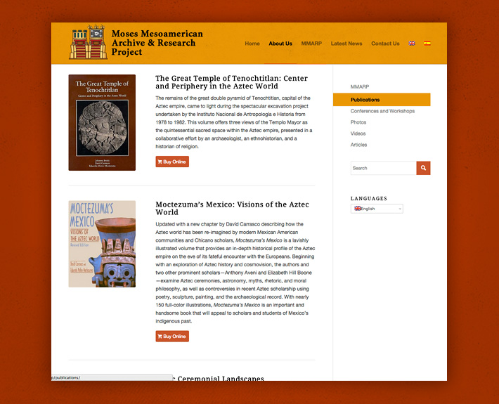 Publication page featuring pop links to purchase books