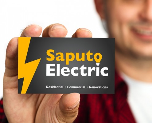 Saputo business card design