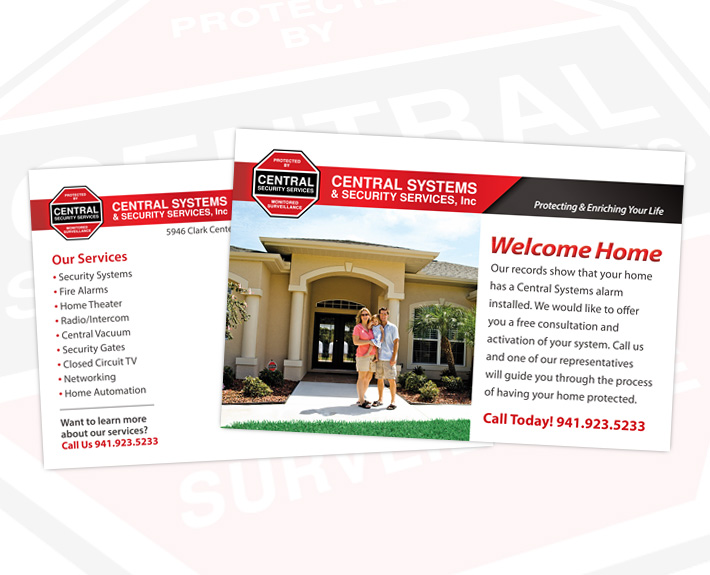 Central Systems Postcard Design & Printing