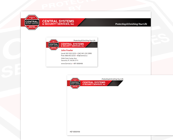 Central Systems Stationery Design