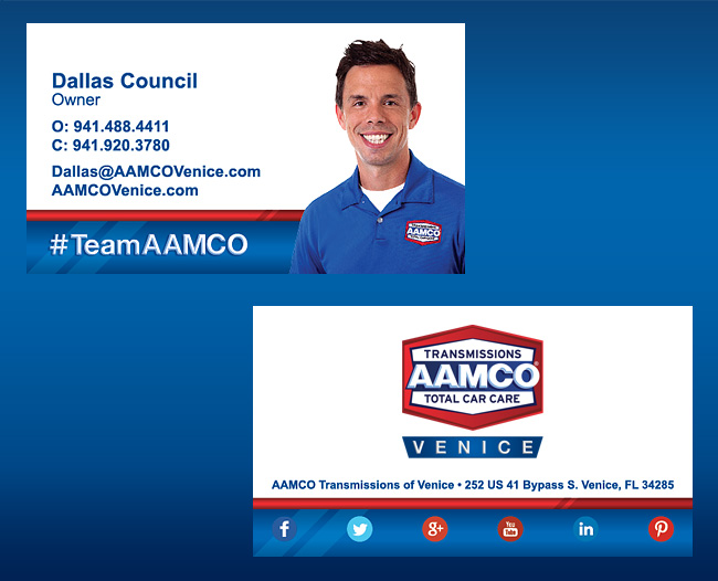 AAMCO Business Card Design