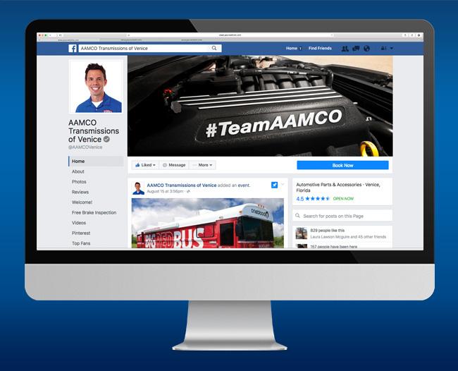 AAMCO Facebook Branding