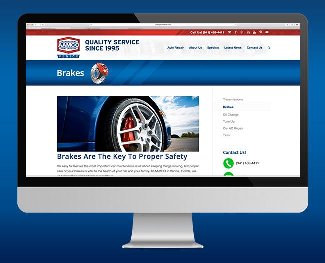 AAMCO Website Brakes