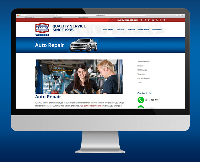 Auto Repair Webpage