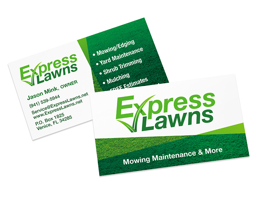 xpress Lawns Business Card